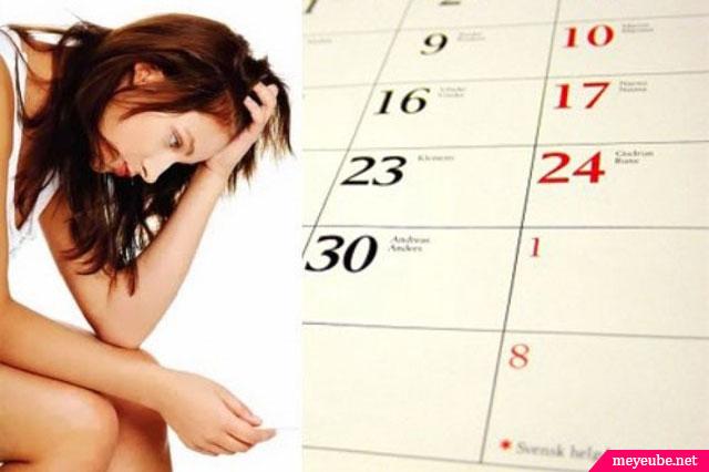 chu kỳ kinh nguyệt không đều - nguyên nhân vô sinh nữ